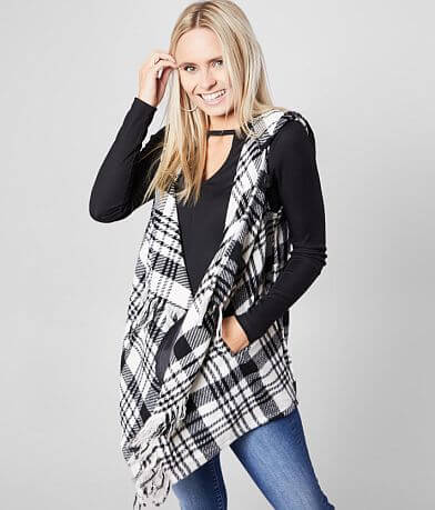 Jolt Hooded Plaid Vest