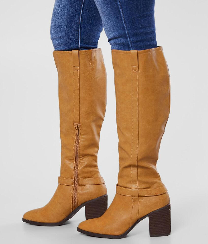 Faux leather boot Side zip detail 17\\\