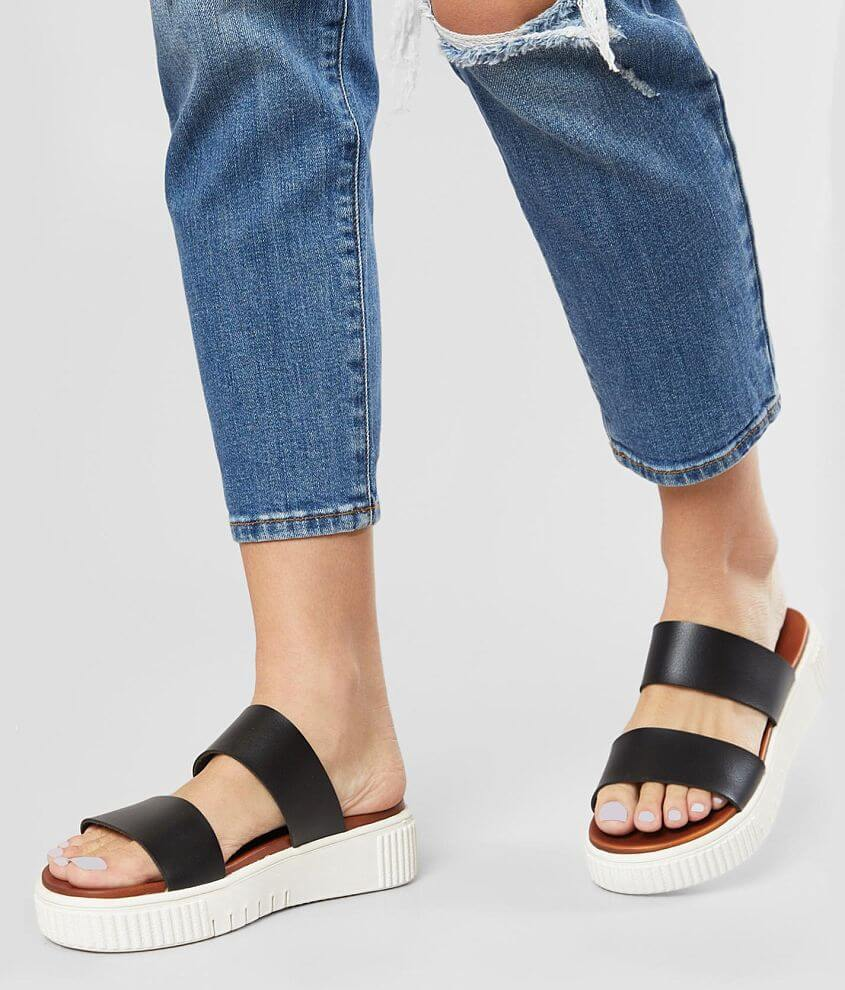 Faux leather slip-on sandal Cushioned footbed 2\\\