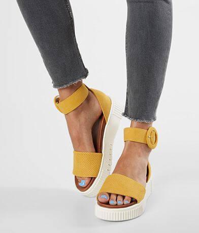 Mia Rosanna Faux Suede Flatform Sandal