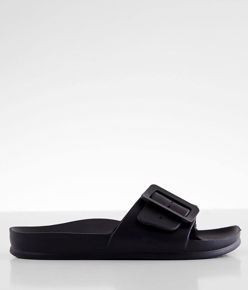 Rubber adjustable strap sandal Contoured cushion footbed