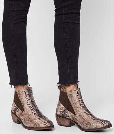 Mia Jaylee Snake Print Ankle Boot
