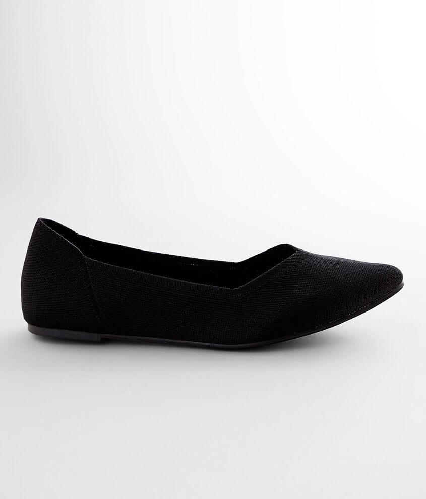 Solid pointed-toe stretch shoe Comfort footbed