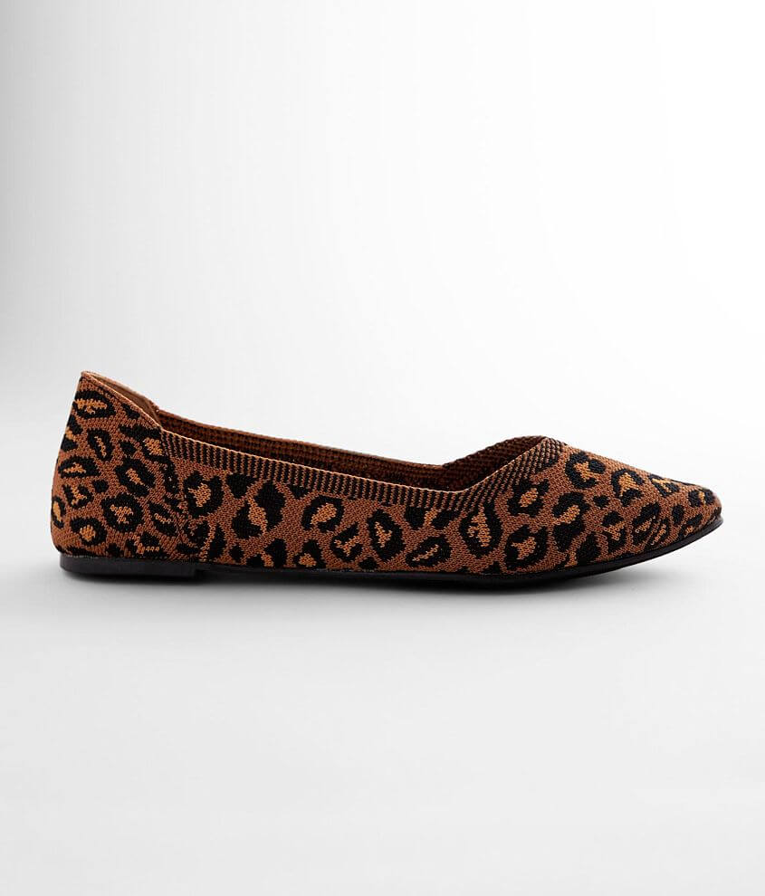 Printed stretch shoe Cushioned footbed