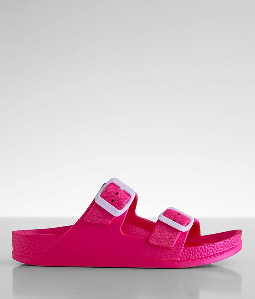 Neon double strap sandal