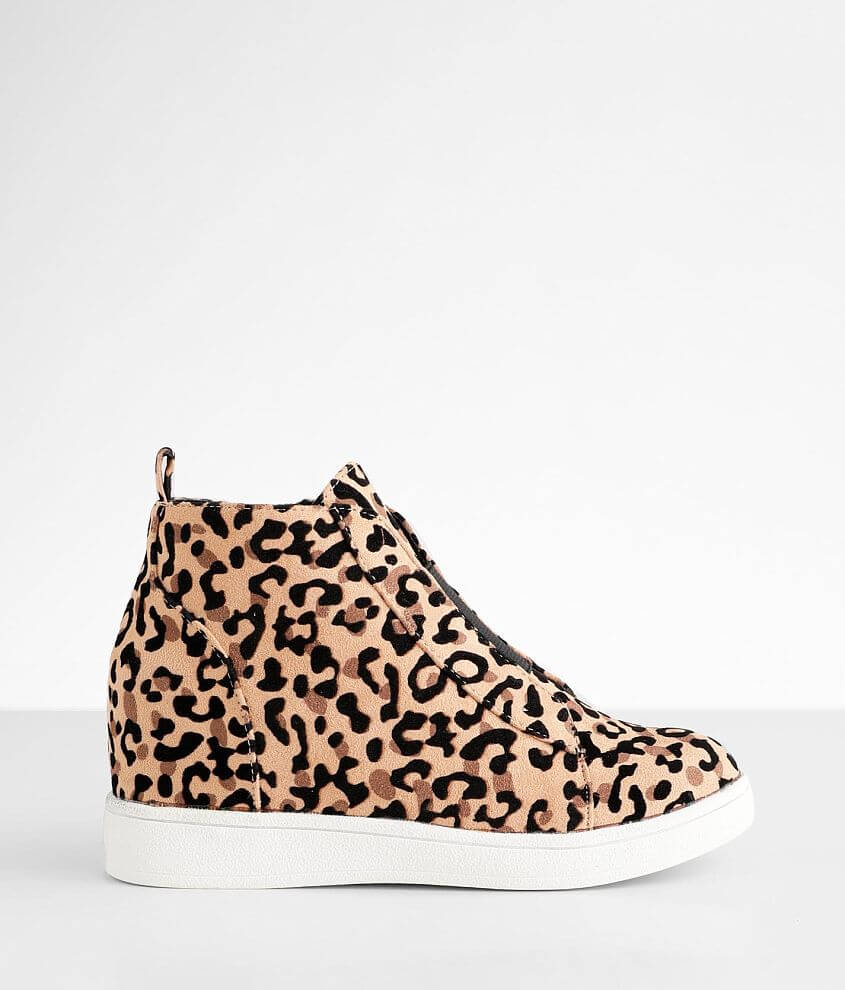 Girls - Mia Gracey Leopard Print Wedge Shoe front view
