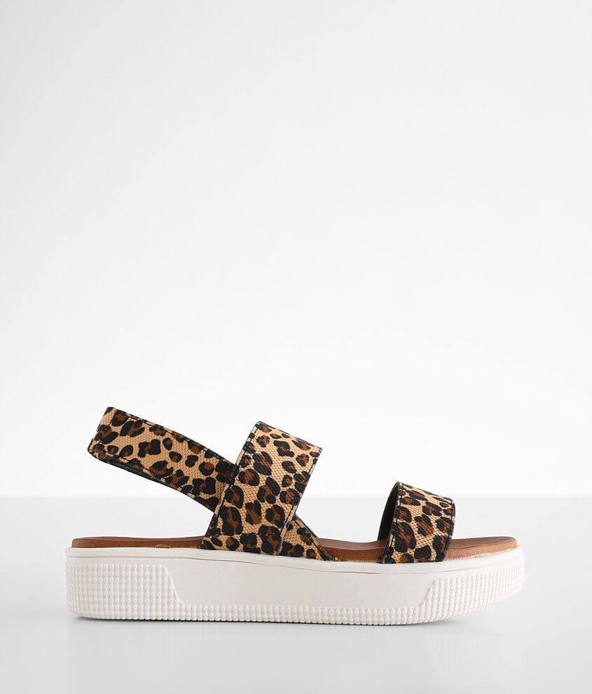 Girls - Mia Leopard Flatform Sandal front view