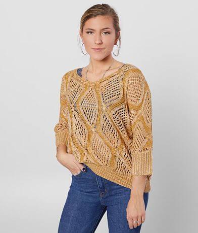 BKE Pointelle Pullover Sweater
