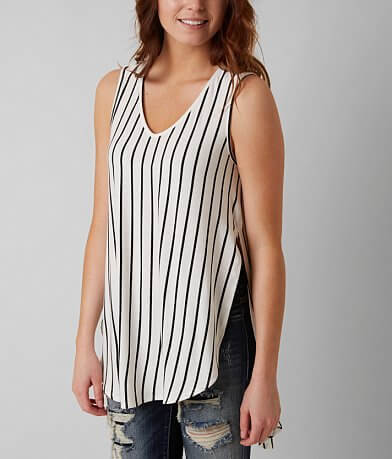 Ces Femme by Mi In Striped Tank Top