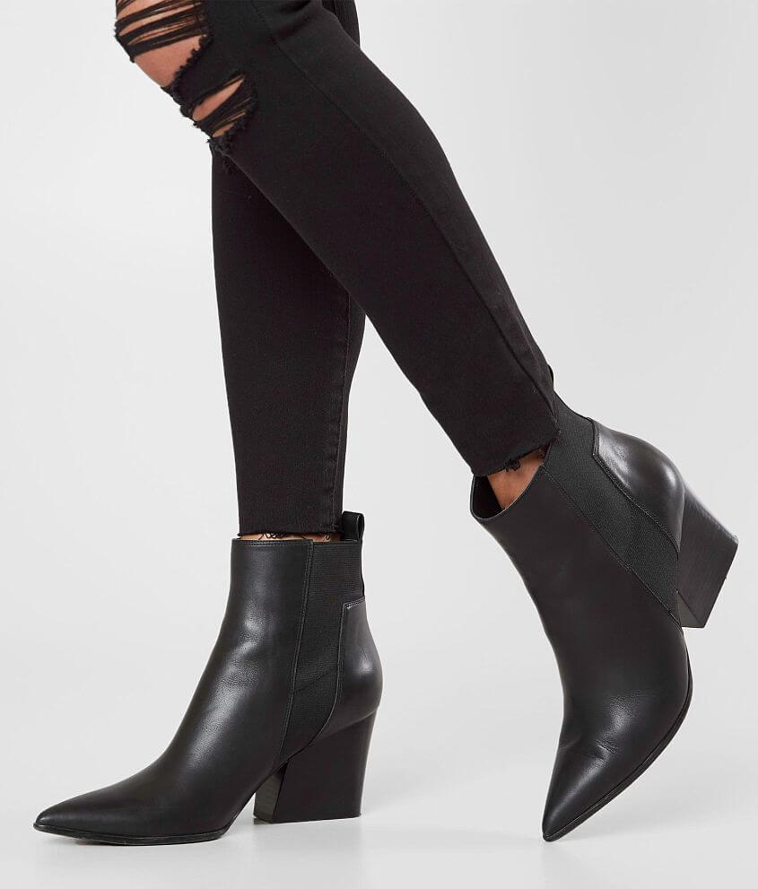 390b63bd9 KENDALL + KYLIE Finch Leather Ankle Boot - Women's Shoes in Black ...