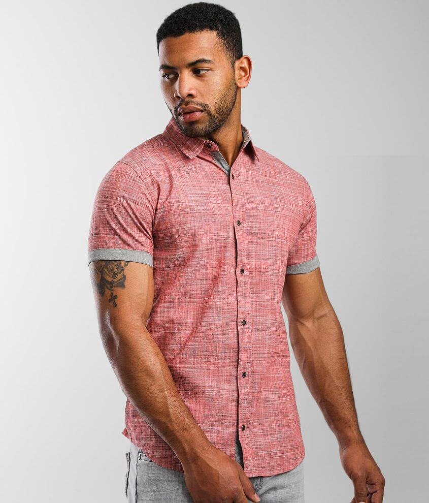 Departwest Textured Woven Shirt front view