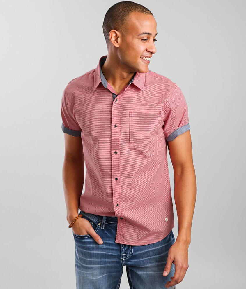 Departwest Jacquard Striped Stretch Shirt front view