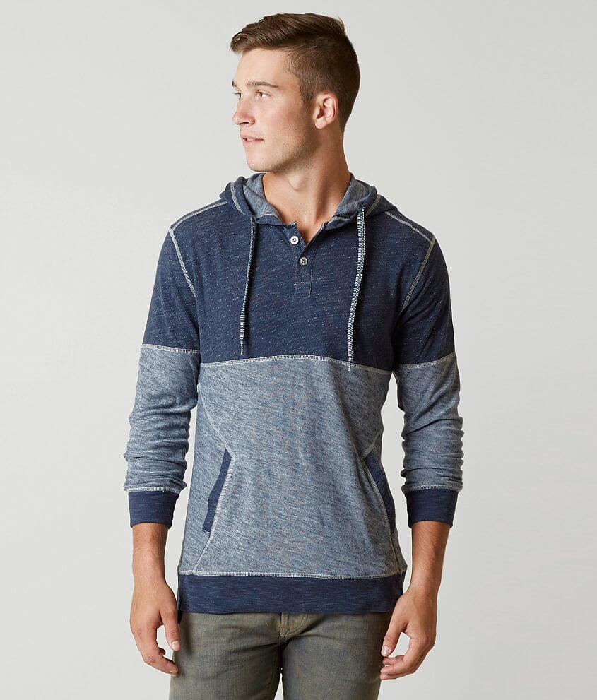 BKE Alright Henley Hoodie front view