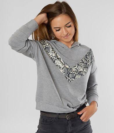 FITZ + EDDI Chevron Hooded Sweatshirt