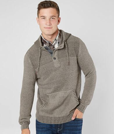 BKE Franklin Hooded Henley Sweater