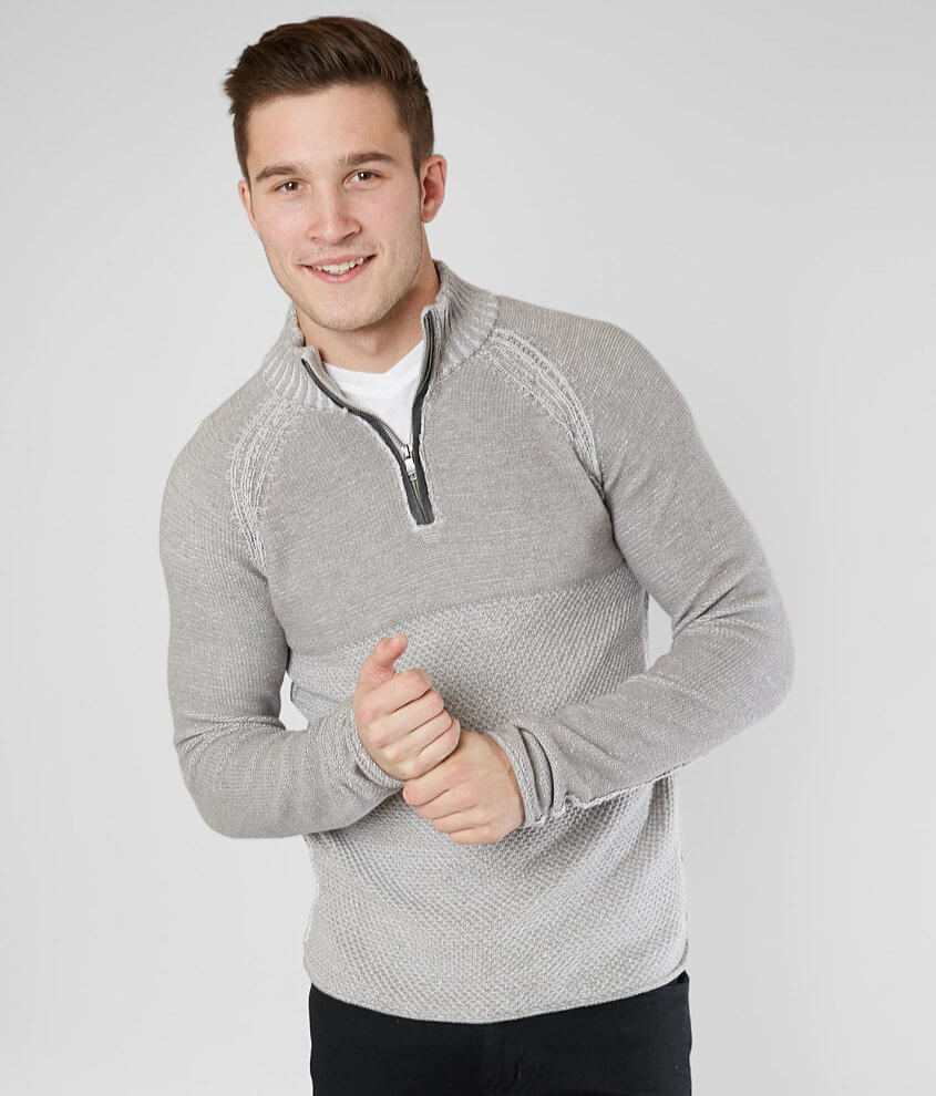 BKE Albany Quarter Zip Sweater front view