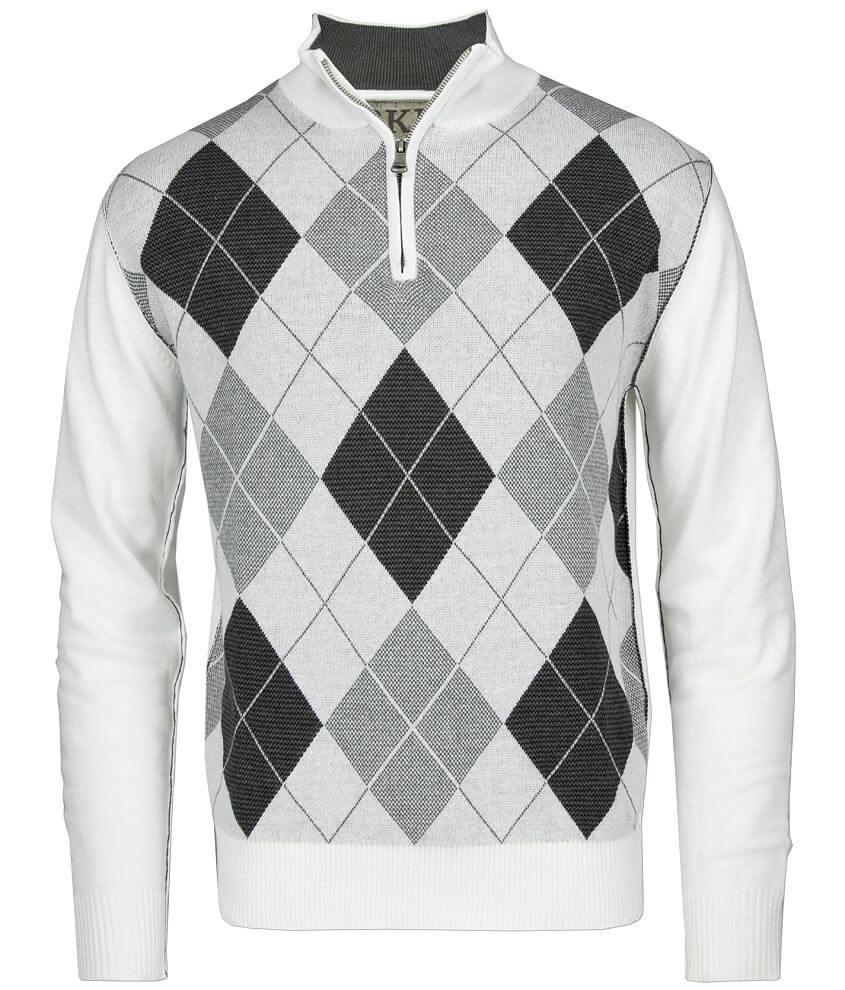 BKE Barton Argyle Sweater front view