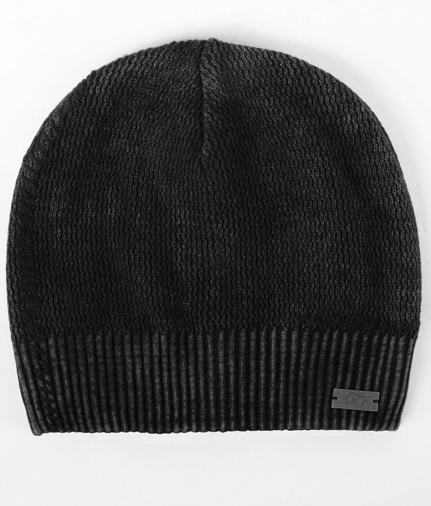 Buckle Black Beanie front view