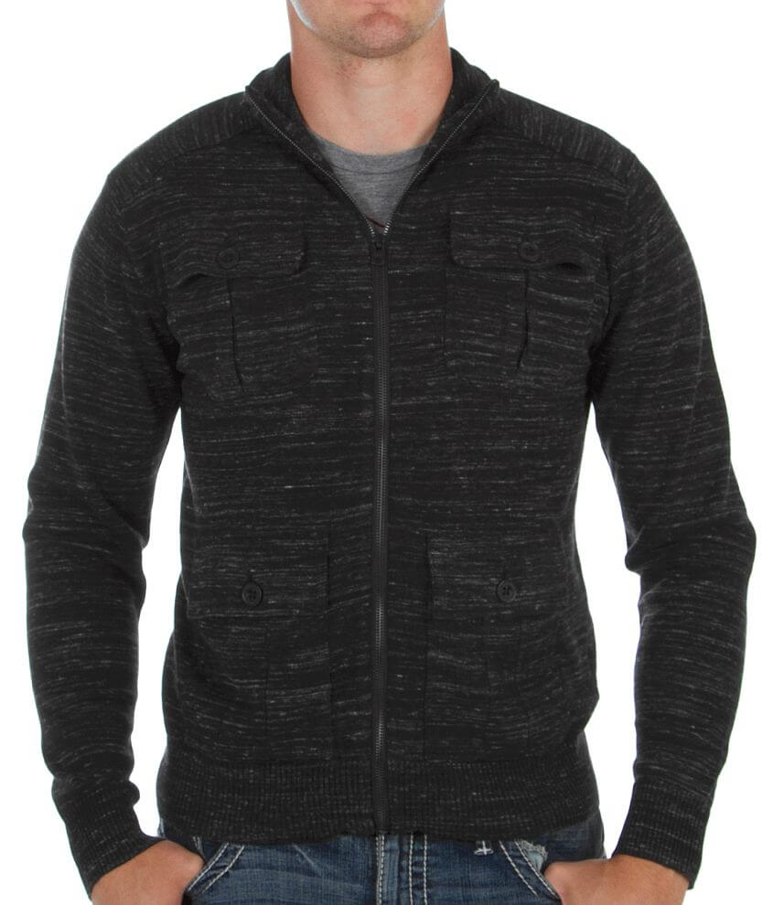Buckle Black You're Gone Cardigan Sweater front view