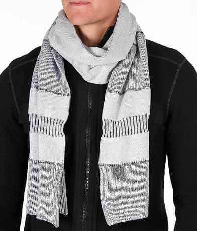 Buckle Black Striped Scarf