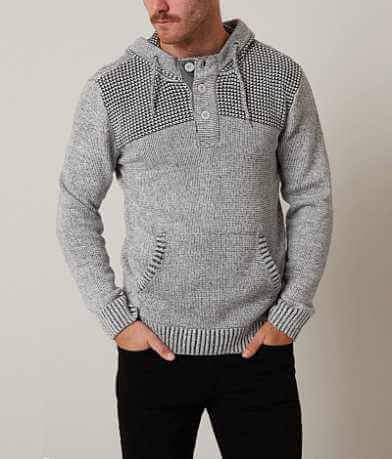 Retrofit Open Weave Henley Sweater