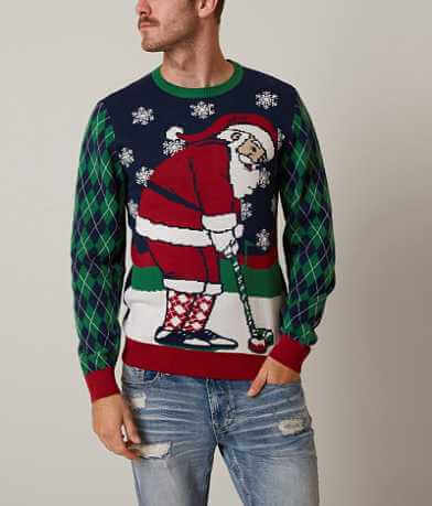 Ugly Christmas Sweater Golfing Santa Sweater