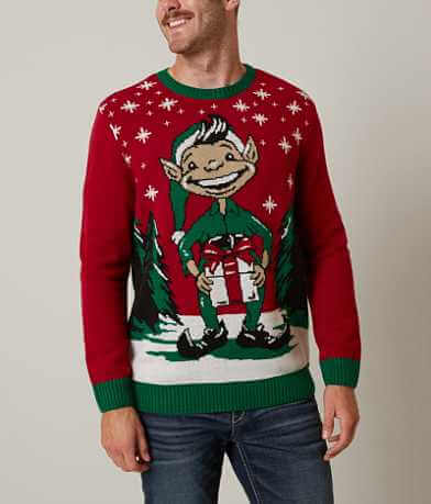 Ugly Christmas Sweater Elf Sweater