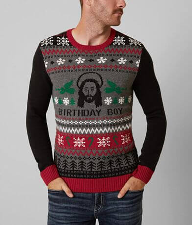 Ugly Christmas Sweater Birthday Boy Sweater