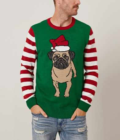 Ugly Christmas Sweater Pug Sweater