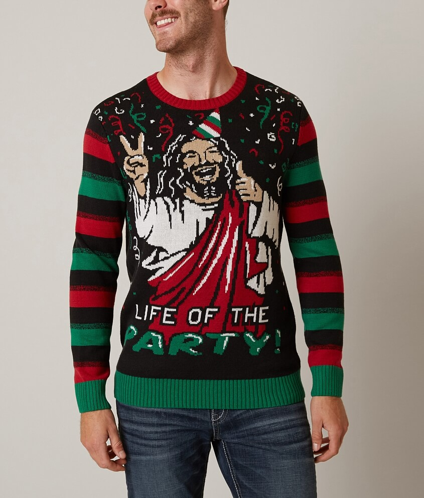 Ugly Christmas Sweater Life of The Party Sweater - Men's Sweaters ...