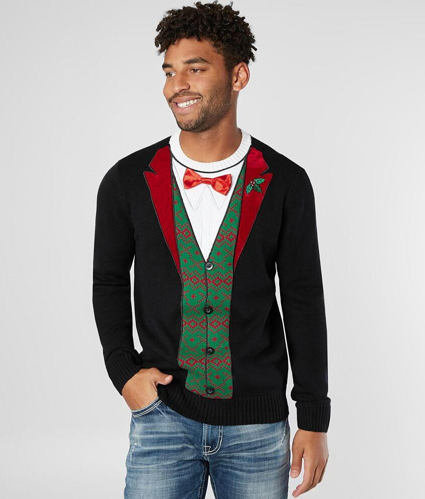 Mens Christmas Sweaters.Ugly Christmas Sweater Holiday Tux Sweater Men S Sweaters