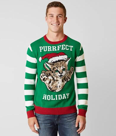 Ugly Christmas Sweater Purrfect Holiday Sweater