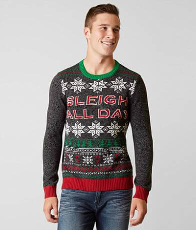 Ugly Christmas Sweater Sleigh All Day Sweater