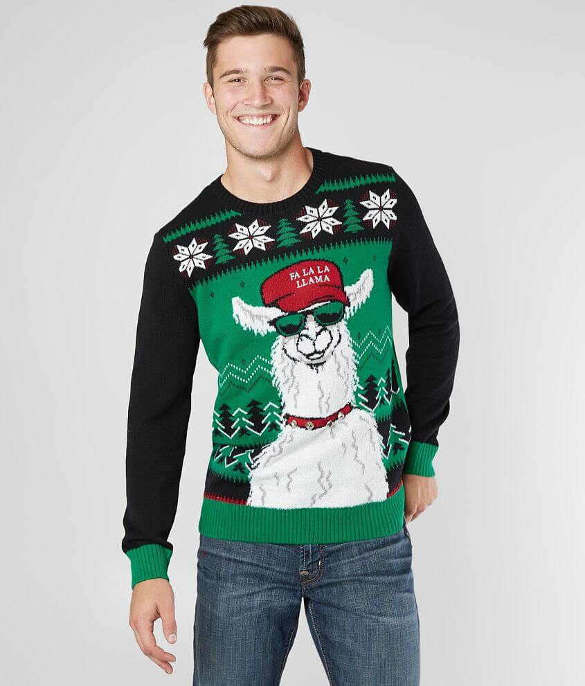 f1bc7c36640 Ugly Christmas Sweater Fa La Llama Sweater - Men's Sweaters in New ...