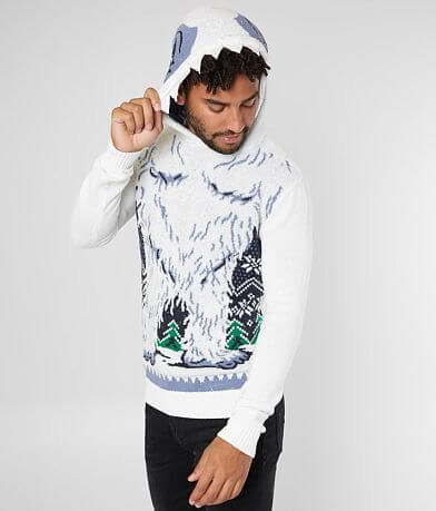 Ugly Christmas Sweater Abominable Snowman Sweater