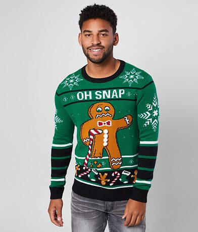 Ugly Christmas Sweater Oh Snap Gingerbread Sweater