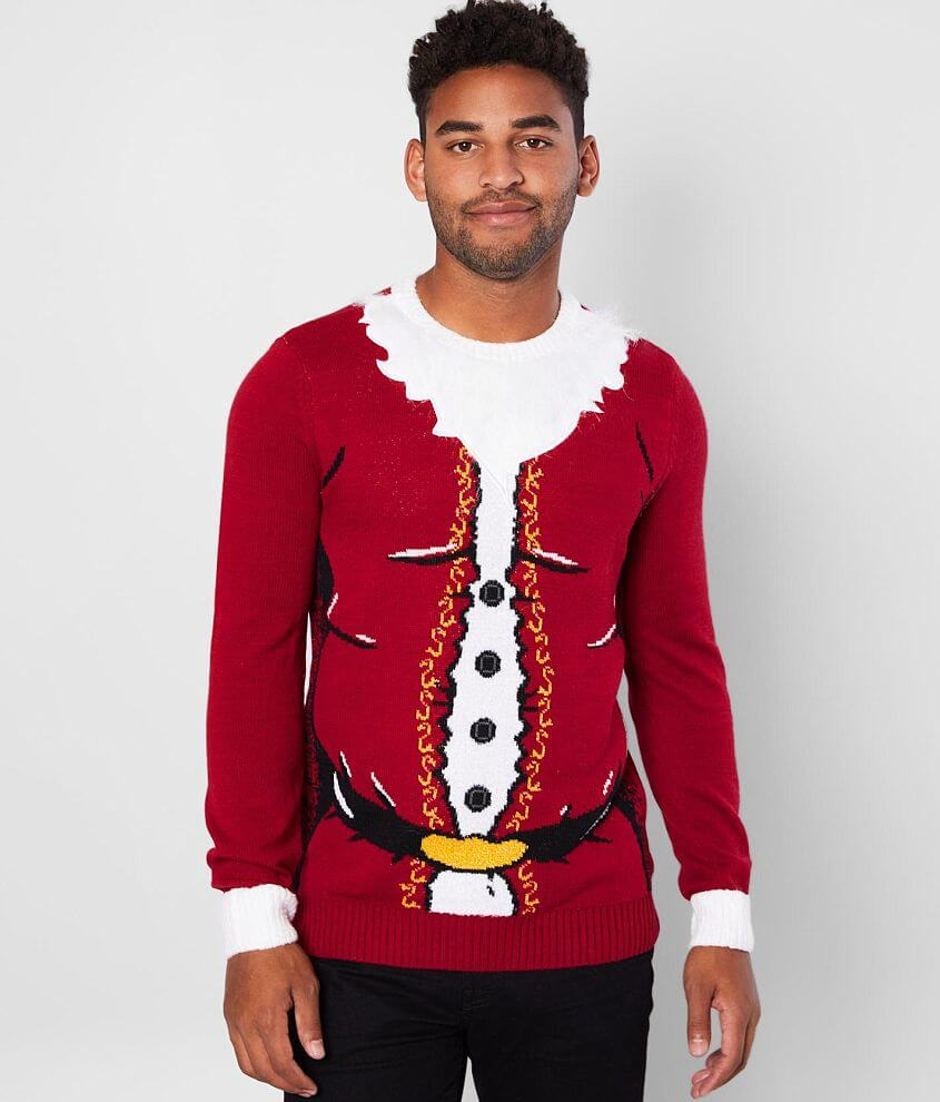 Ugly Christmas Sweater Santa Body Sweater front view