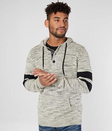 Retrofit Hooded Henley Sweater