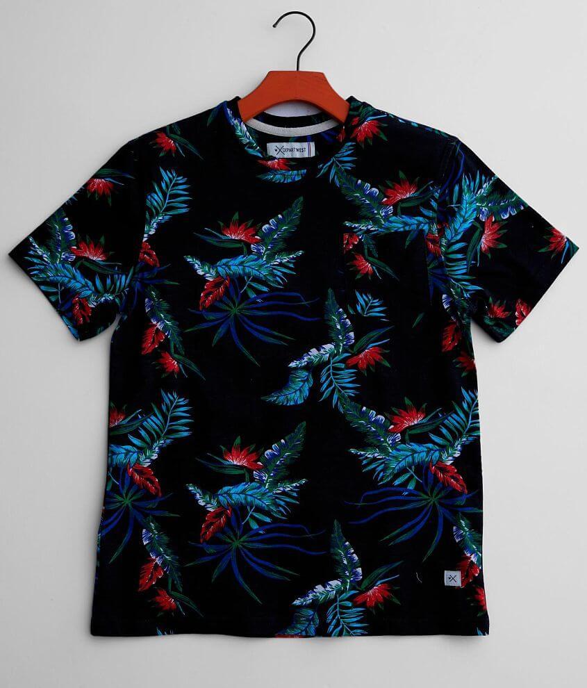 Boys - Departwest Tropical Floral T-Shirt front view
