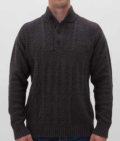 Buckle Black Polished Pump Henley Sweater