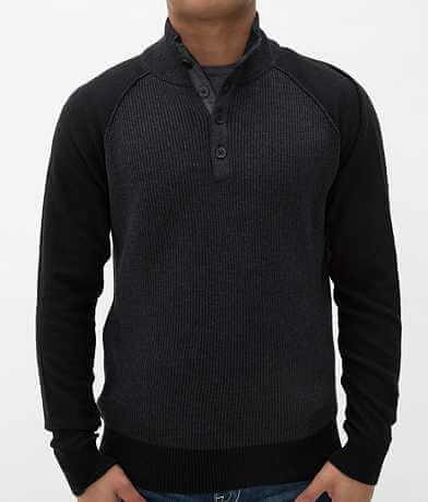 Buckle Black Polished High Spirits Henley Sweater