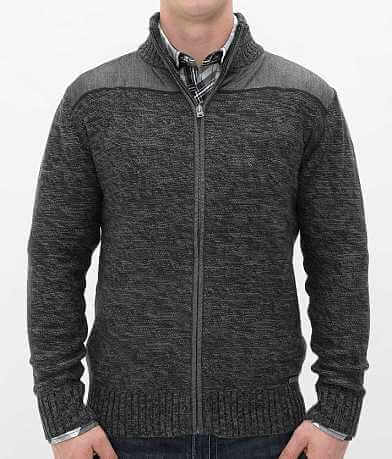 Buckle Black Polished Delighted Cardigan Sweater