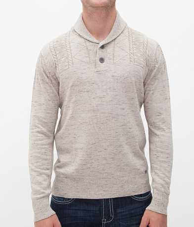 Buckle Black Polished Fired Henley Sweater