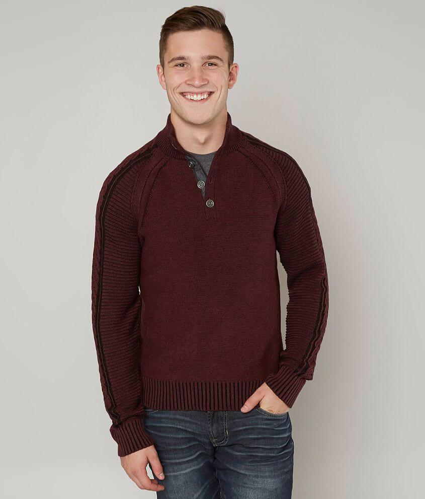 3b4b8ea84c4d7d J.B. Holt Alexander Henley Sweater - Men's Sweaters in Port | Buckle