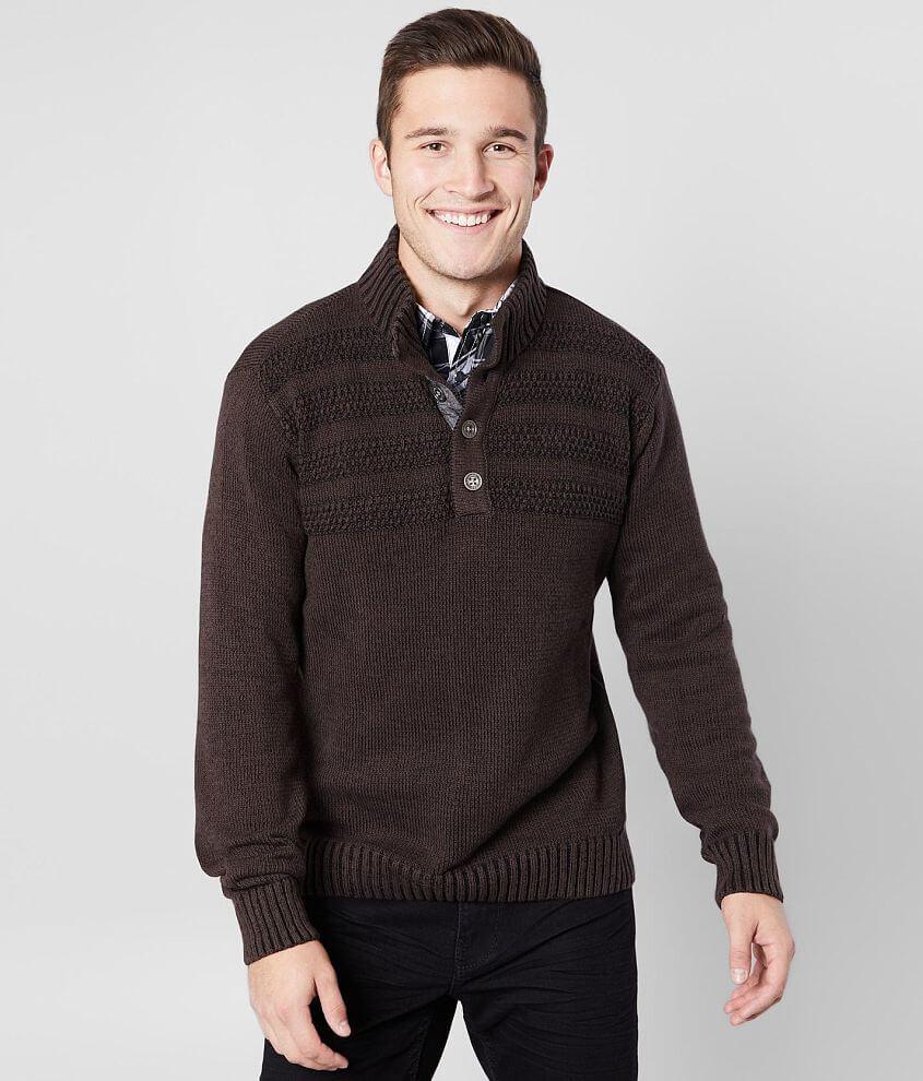 J.B. Holt Finley Henley Sweater front view
