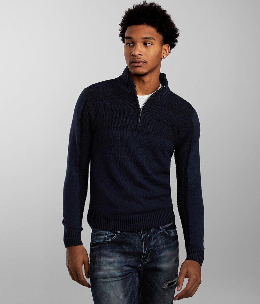 J.B. Holt Jaxon Quarter Zip Sweater front view