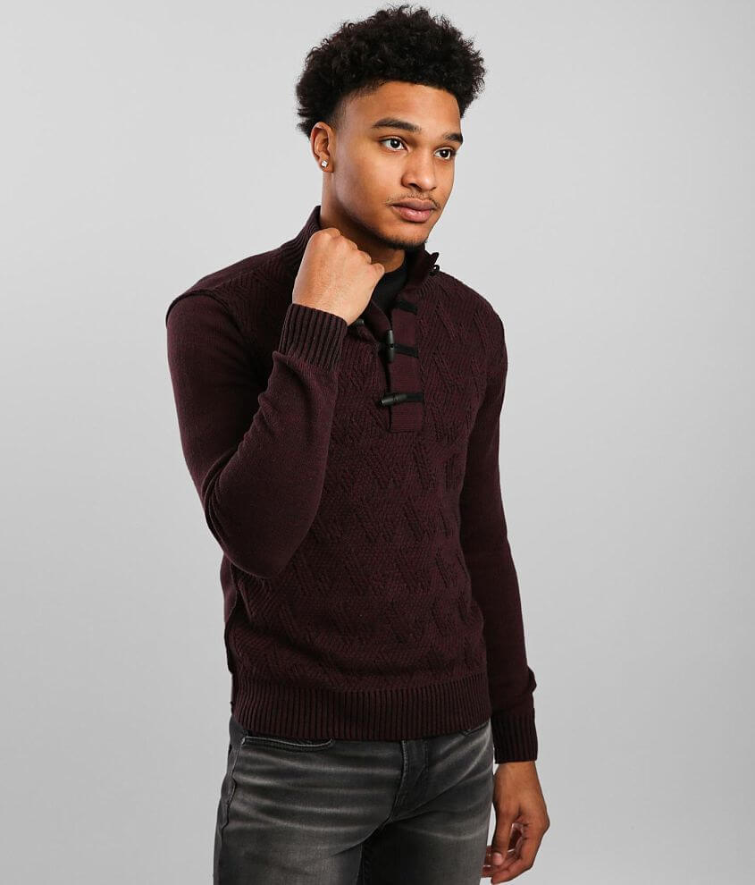 J.B. Holt Spring Toggle Henley Sweater front view