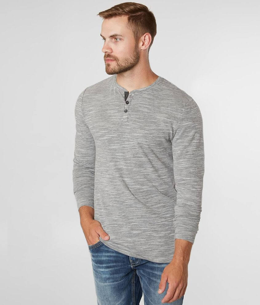 Outpost Makers Marled Knit Henley front view