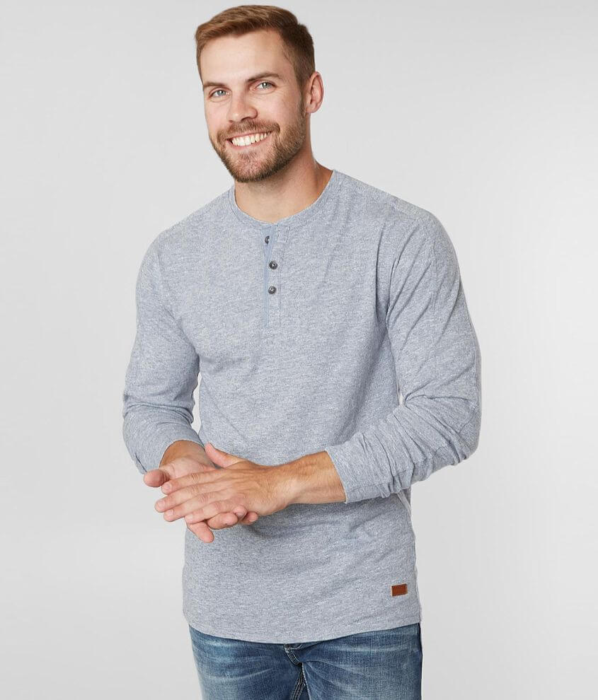 Outpost Makers Heathered Knit Henley front view