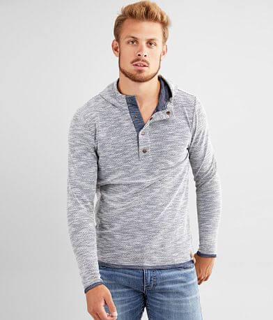 Outpost Makers Snap Henley Hoodie